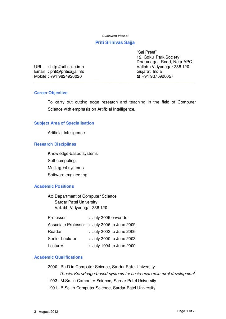 resume format for assistant professor in cse teacher assistant