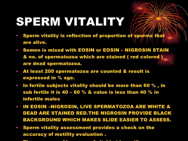 Eosin-nigrosin and viability of sperm interpretation