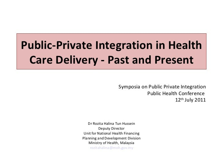 Public-Private Integration in Health Care Delivery - Past and Present                                 Symposia on Public P...