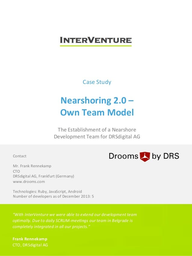 InterVenture Nearshore Software Outsourcing: Case Study - Own Software Development Team Model