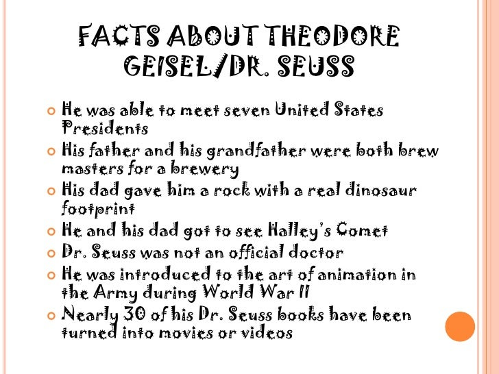 the creative genius of theodor seuss geisel View images and find out more about in focus: the wonderful world of dr seuss at getty images  images creative editorial video creative  theodor geisel.
