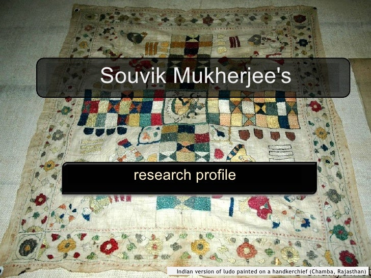 Souvik Mukherjee's research profile Indian version of ludo painted on a handkerchief (Chamba, Rajasthan)