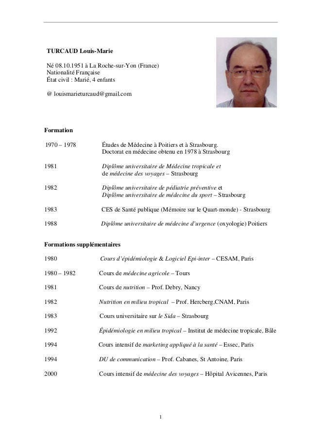 cv du docteur louis marie turcaud