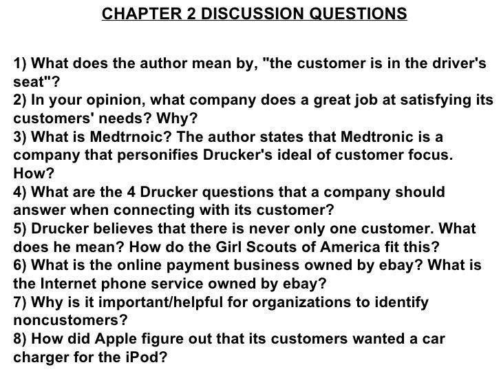 Drucker chapter 2