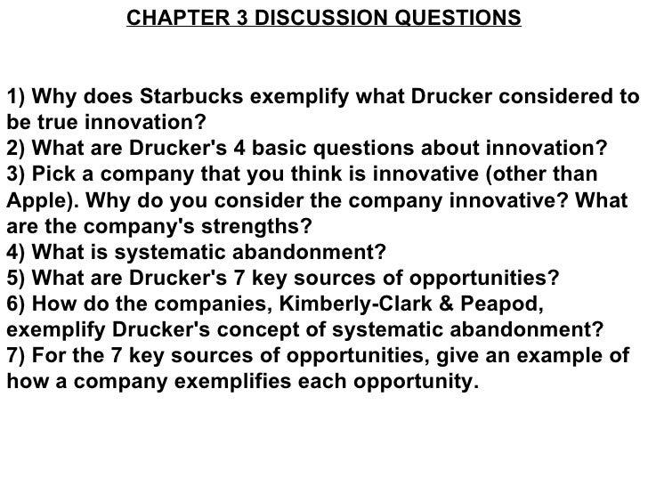 Drucker chapter 3