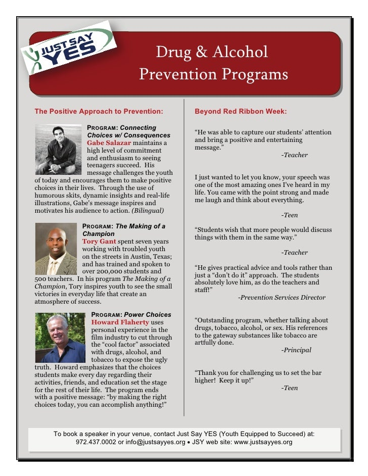 Drug And Alcohol Program Flyer