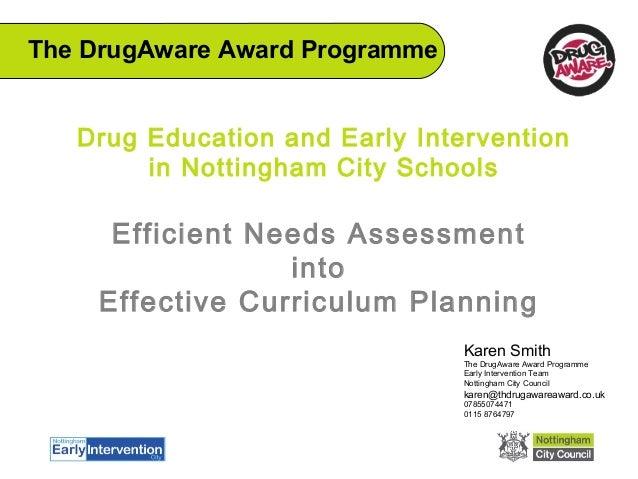 Efficient needs assessment into effective curriculum planning - ADEPIS seminar