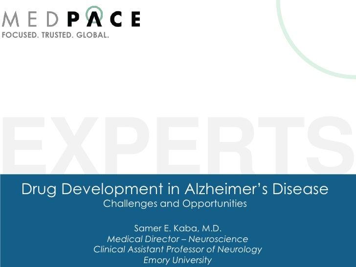 Drug development in Alzheimer's Disease