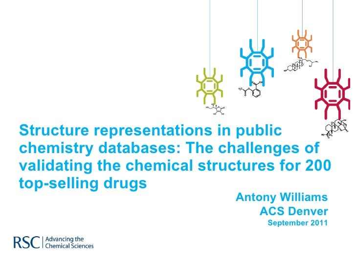 Structure representations in public chemistry databases: The challenges of validating the chemical structures for 200 top-selling drugs