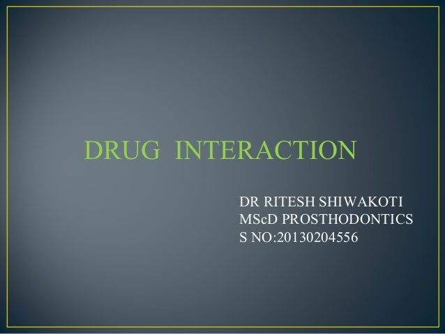 Drug interactionppt