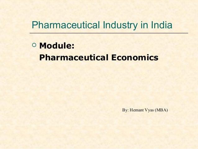 Drug market structure (Pharma in Indian Scenario)