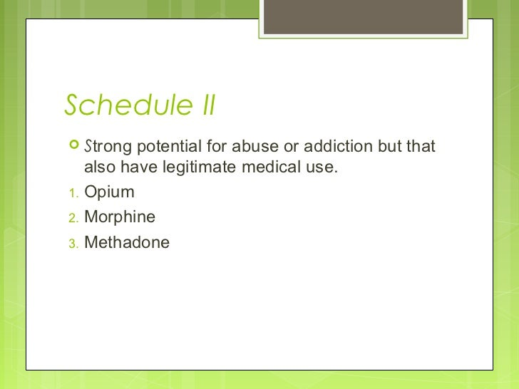 valium schedule ii drug laws