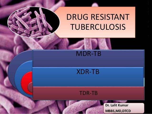 DRUG RESISTANT TUBERCULOSIS MDR-TB XDR-TB TDR-TB Dr. Lalit Kumar MBBS,MD,DTCD