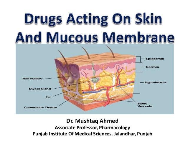 Drugs acting on skin