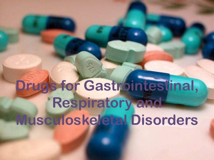 Drugs for gastrointestinal, respiratory and muscular disorders