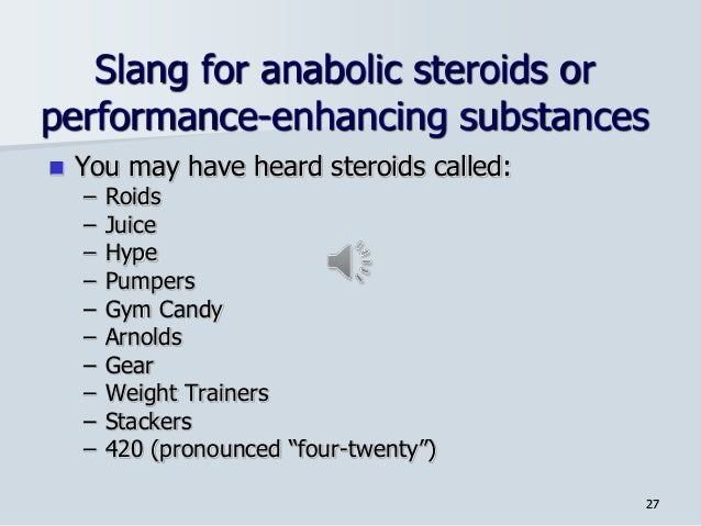 slang words for steroids