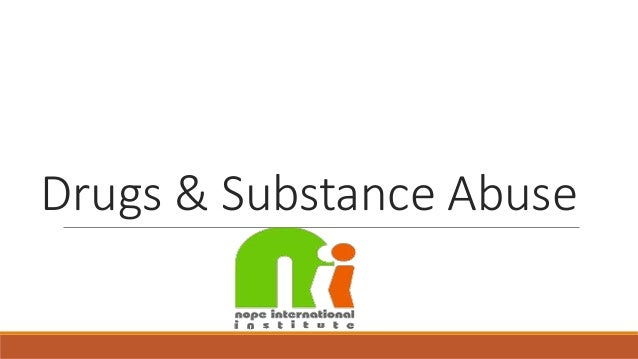 A substance abuse free workplace