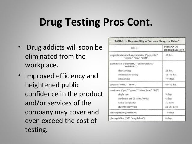 forced drug testing essay List of cons of drug testing in the the night before or suffers from insomnia may be forced to deal with the unwanted is to drug test an.