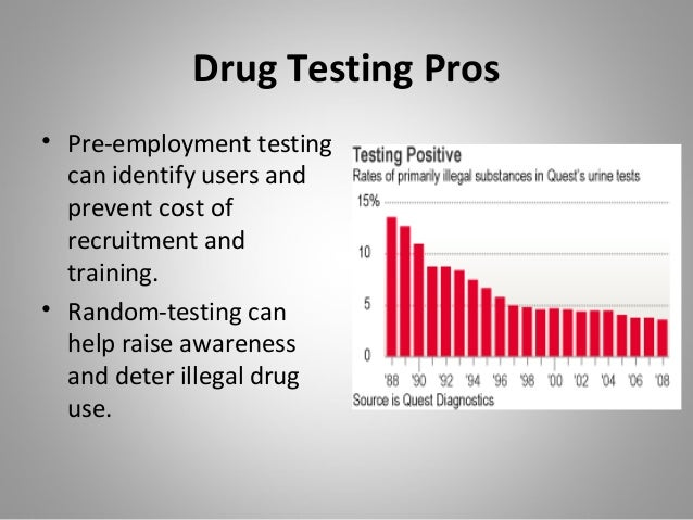 drug testing in high school pro and cons Hear from the subject of today's hearing is the pros and cons of drug legal-  ization  often high-pitched debate over legalization of drugs appears to have   the constantine home and school test if they want credibility in ad.