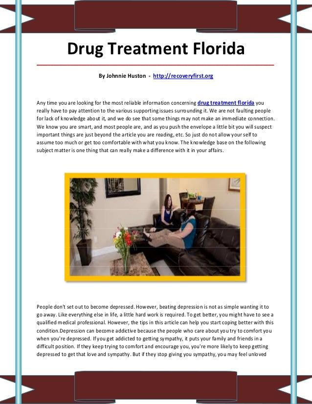Drug Treatment Florida_____________________________________________________________________________________               ...