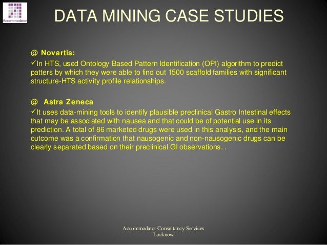 DMCS 2 13: Data Mining Case Studies and Data Mining