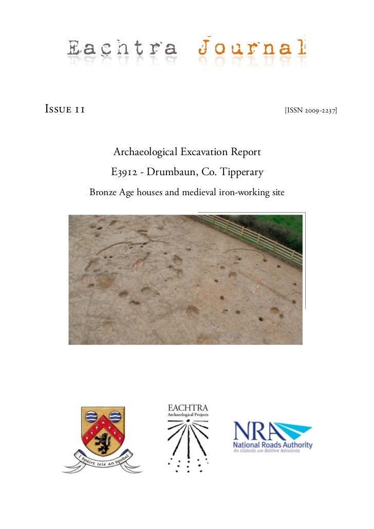 Archaeological Report - Drumbaun, Co. Tipperary (Ireland)
