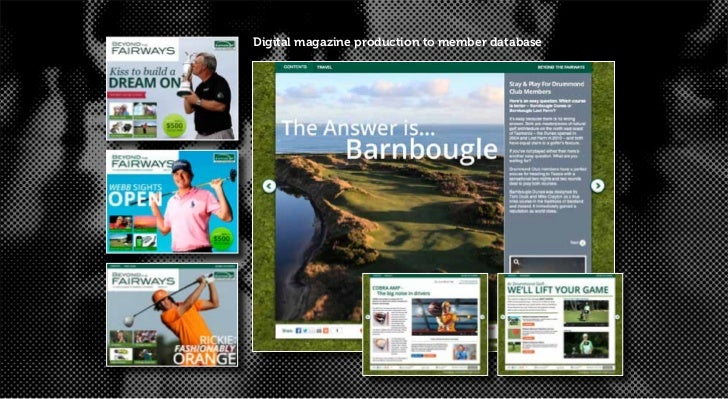 Digital magazine production to member database