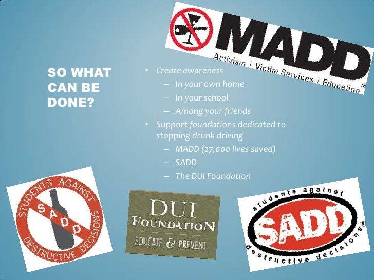 Persuasive speech on drunk driving