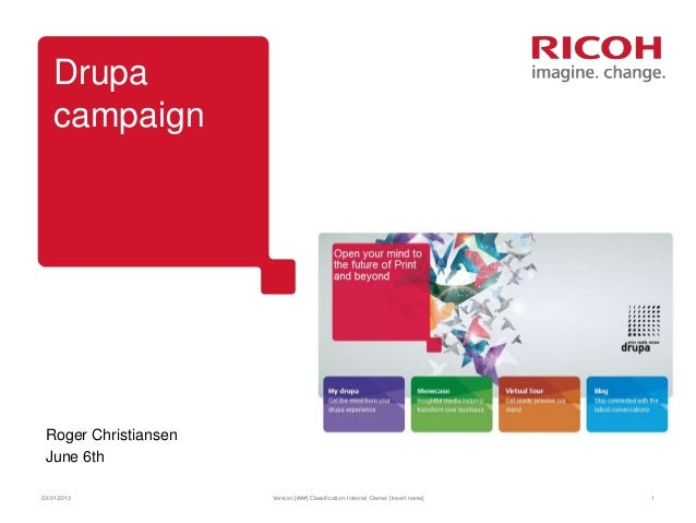 Drupa campaign overview june 2012