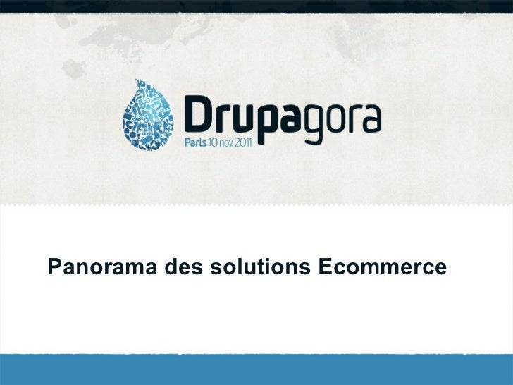 Panorama des solutions Ecommerce