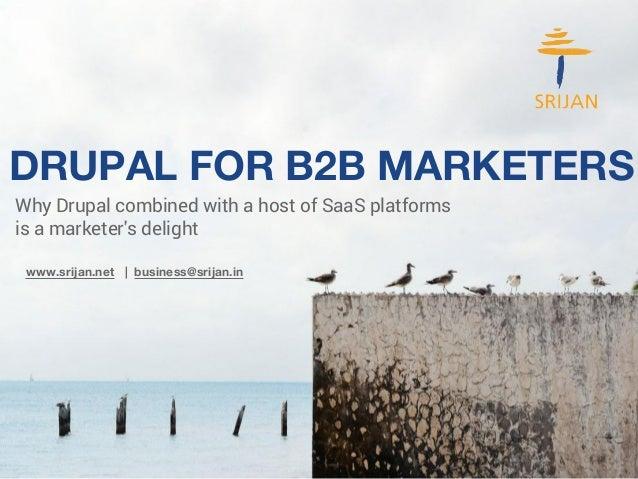 Drupal -- B2B Marketers' Delight
