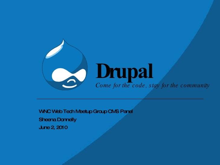A Quick Look at Drupal