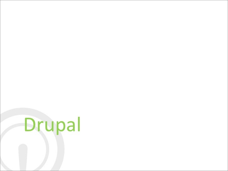 Drupal know how's