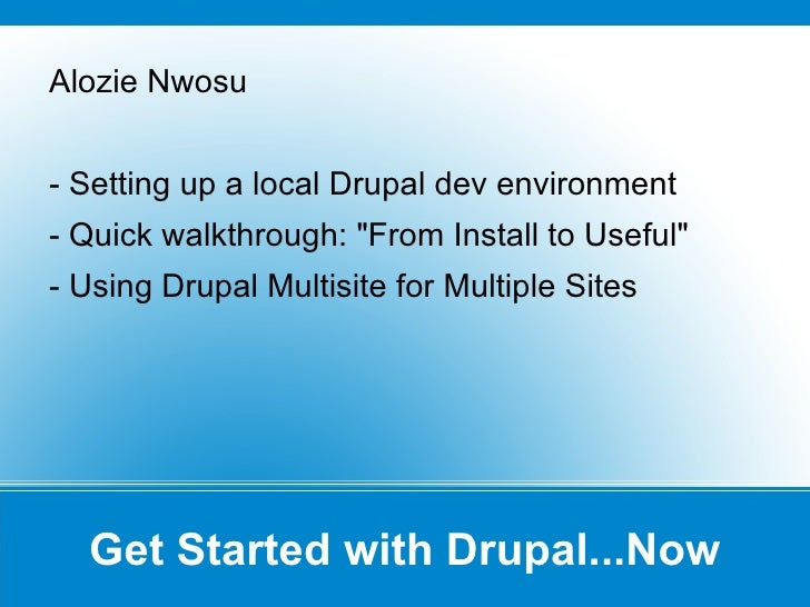 Drupal Now! - Introduction to Drupal