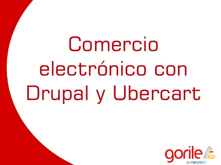 Comercio  electrónico con Drupal y Ubercart