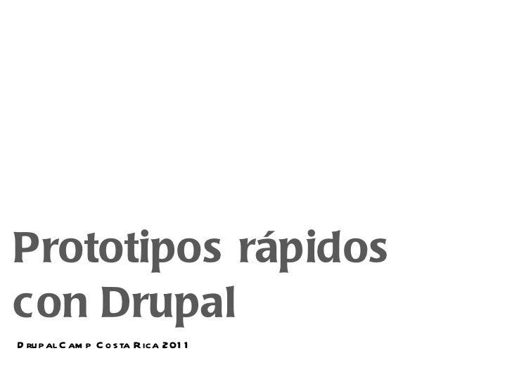 Drupal - prototipos rápidos