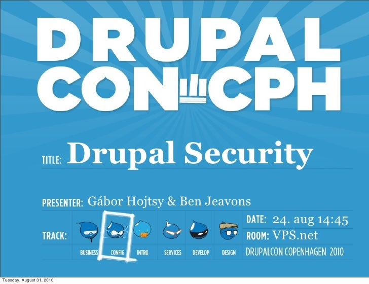 Drupal security - Configuration and process