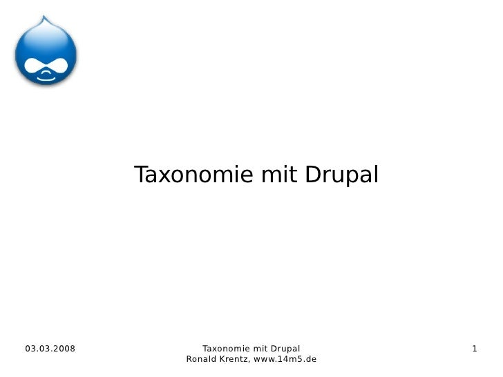 Taxonomie mit Drupal