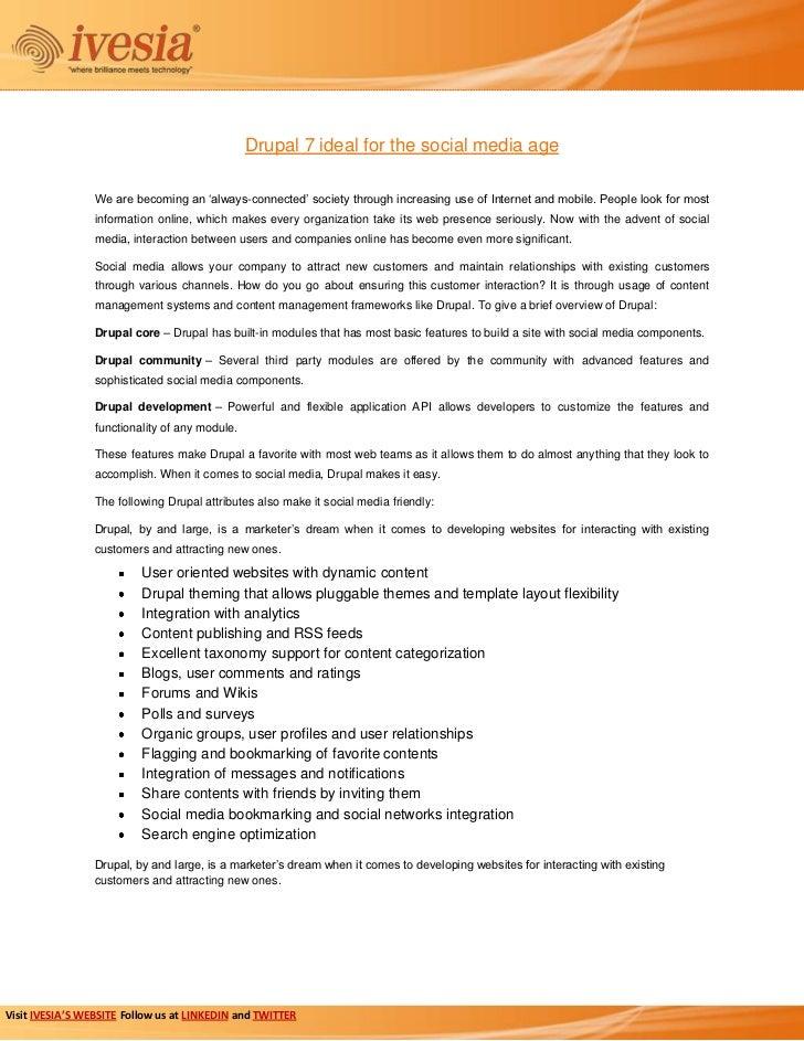 Drupal 7 ideal for the social media age