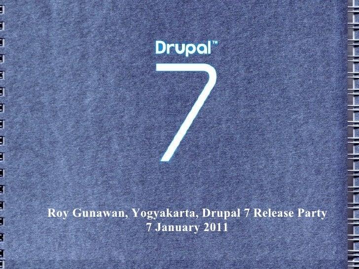 Drupal 7 Release Party - Yogyakarta