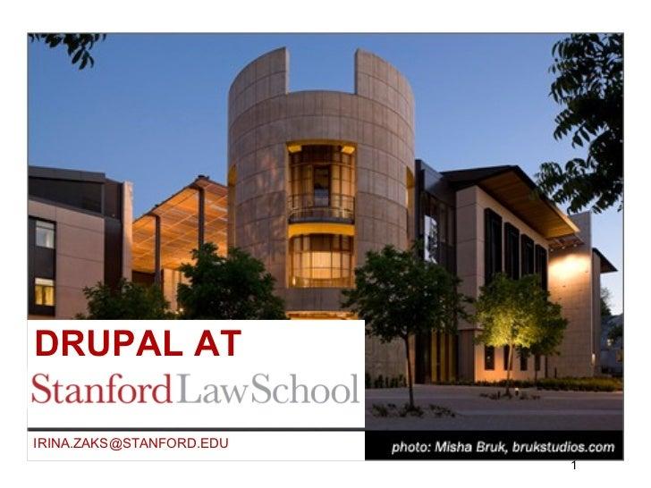 Drupal at Stanford Law School