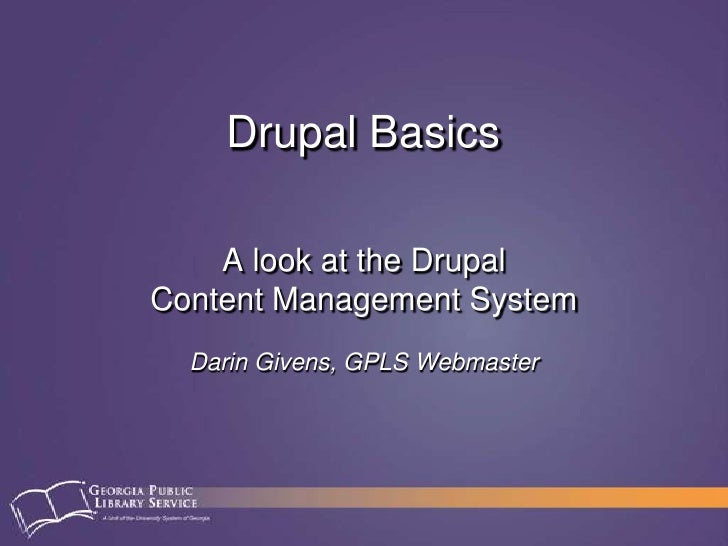 Drupal basics