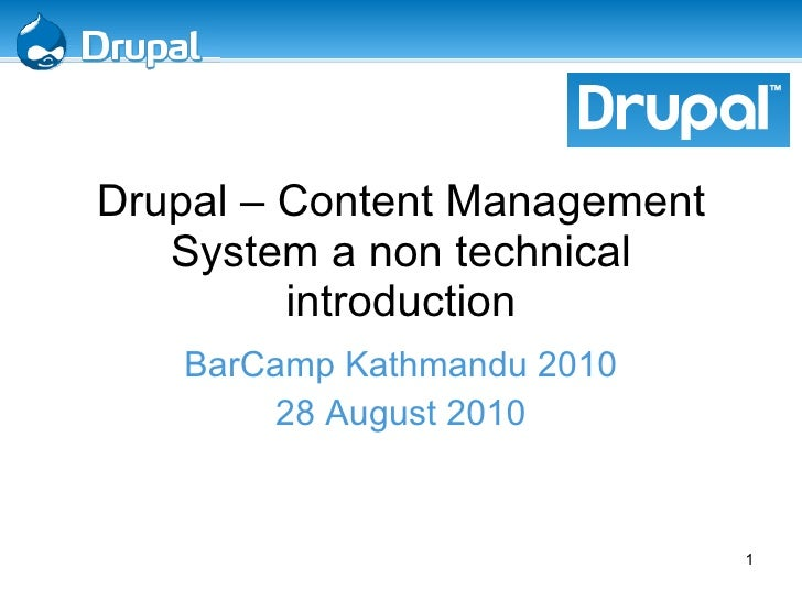 Drupal A non technical Introduction