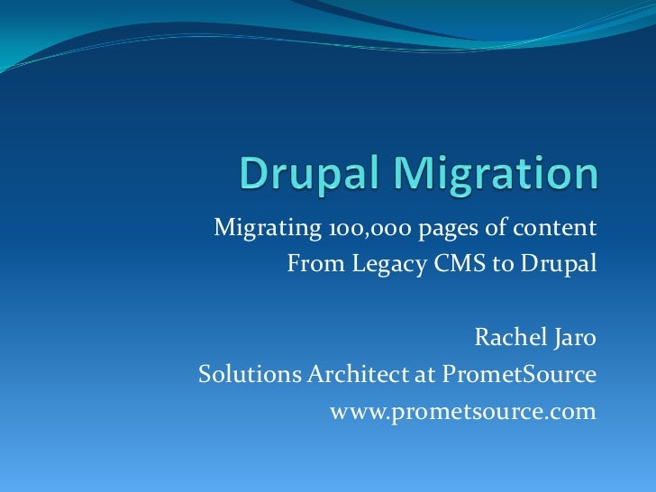 Drupal campchicago2010.rachel.datamigration