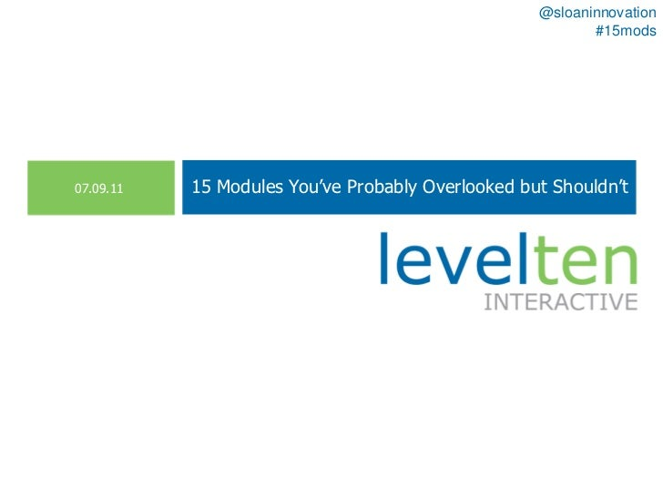 15 Drupal Modules You've Probably Overlooked but Shouldn't