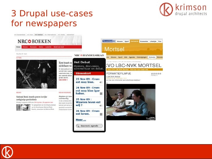 3 Drupal use-cases for newspapers