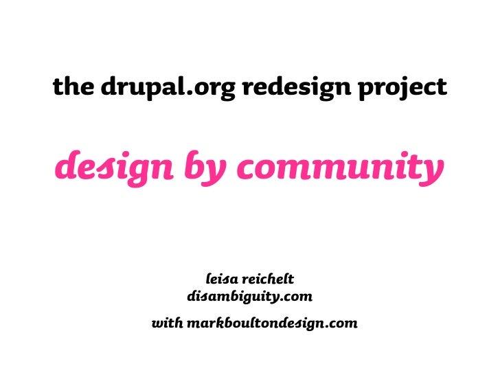 Drupal Communitydesign