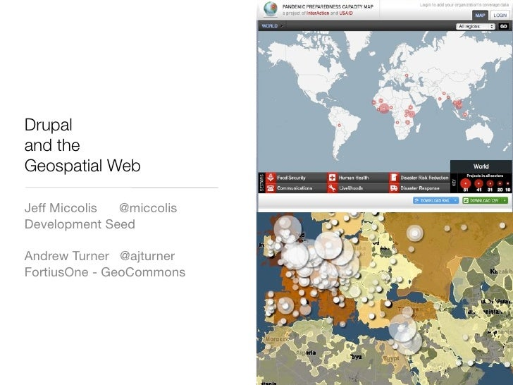 Drupal and the GeoSpatial Web