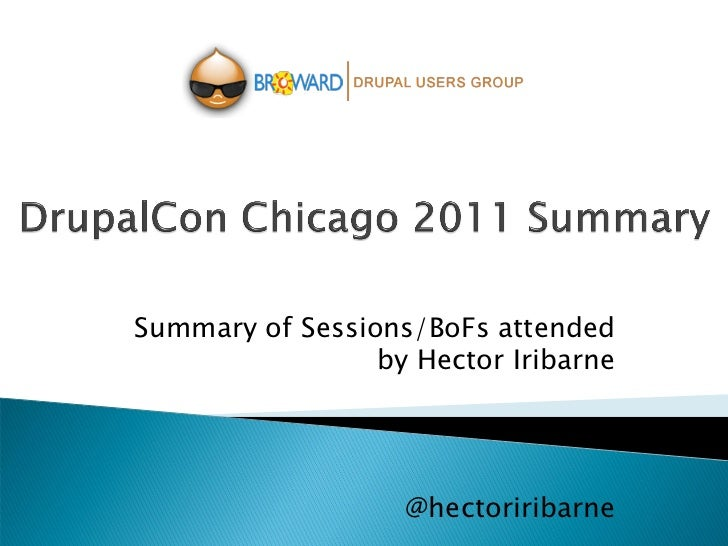 Summary of Sessions/BoFs attended                 by Hector Iribarne                   @hectoriribarne