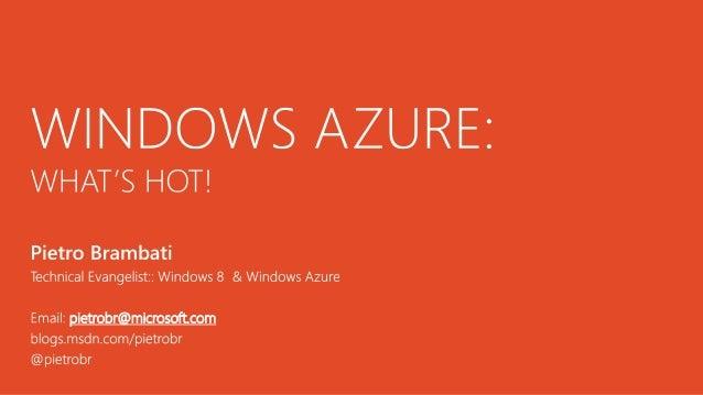 Windows Azure al DrupalDay Roma 2012